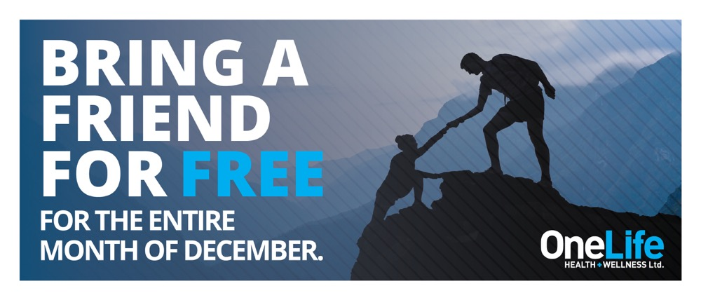 Kelowna-Gyms-Bring-a-friend-in-December-Onelife-Fitness_Front